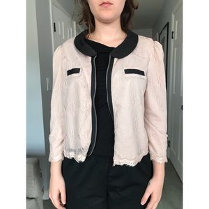 Urban Outfitters Lace Jacket with Collar